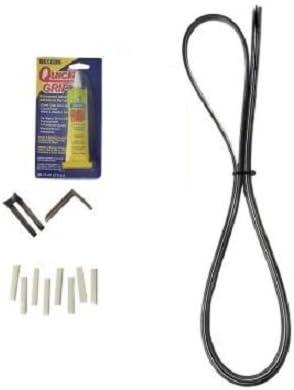 Puerta corredera de cristal Patio Kit de reparación, color negro: Amazon.es: Bricolaje y herramientas