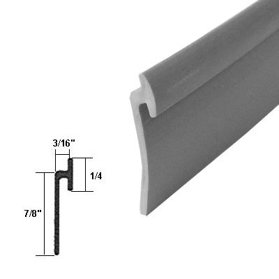 Angled Gray Vinyl Framed Shower Door Drip Rail - 36