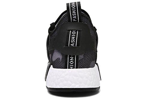 Ginnastica Sportive nero Scarpe Sneakers Running Donna da Uomo Fitness Corsa all'Aperto Casual Trekking MXXM Interior xYgqwIUx