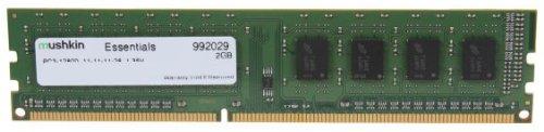 Mushkin DIMM 2GB DDR3 Essentials 2GB DDR3 1600MHz módulo de - Memoria (DDR3, Portátil, 240-pin DIMM, 1 x 2 GB)