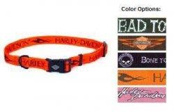 "Harley-Davidson 5/8"" Orange Adjustable Collar"