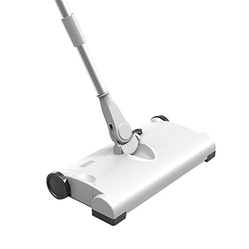 Gmgod❤️❤️Sweeper Smart Hand Push Wireless Charging Household Electric Sweeper Mop Cleaning Machine 31X16X21cm (White)