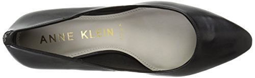 Anne Klein Mujeres Rosalie Leather Pump Black Leather