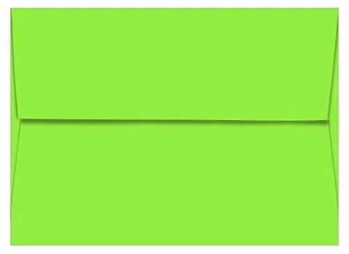 A6 Astrobright Martian Green Envelopes - Straight Flap, 60T, 1000 Pack