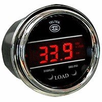 Load Weight Gauge for Any Semi, Pickup Truck or Car - Bezel: Chrome - LED Color: Blue