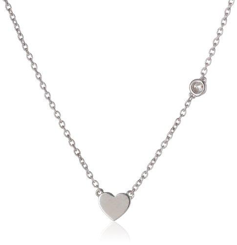 Shy by SE Heart Necklace with Diamond Bezel (Necklace Station Shaped Heart)