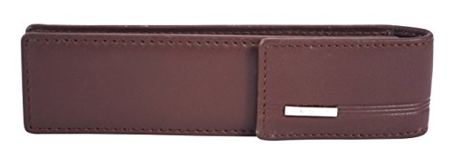 Cross Genuine Leather Double Pen Case (8041_Oak (Patent Collection Zippered Clutch)