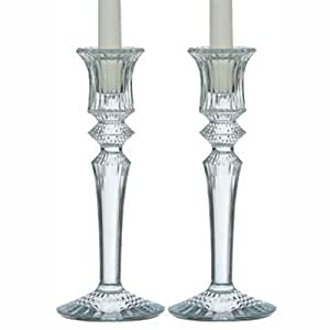 Baccarat Mille Nuits Clear Boxed Set of 2 Candlesticks