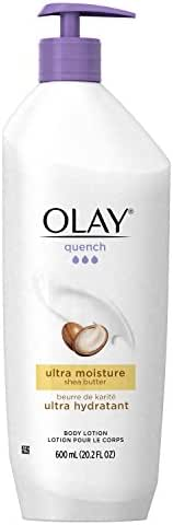 Olay Quench Body Lotion Ultra Moisture with Shea Butter and Vitamins E and B3, 20.2 Fl Oz