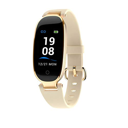 Cobcob Women's Smart Bracelet,2019 Blue-Tooth Fitness IP67 Waterproof Smart Watch Activity Tracker with Heart Rate Monitor Digital Wrist Watch Blood Pressure Sports Wristband (Gold) (Best Pc For Data Analysis 2019)