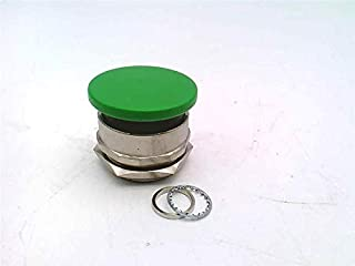 product image for Clippard PC-5M-GN Mushroom Captivated Push Button, 30 mm, Green (Red Shown)
