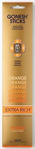 Gonesh Incense Sticks Extra Rich Collection Orange, 20 Piece