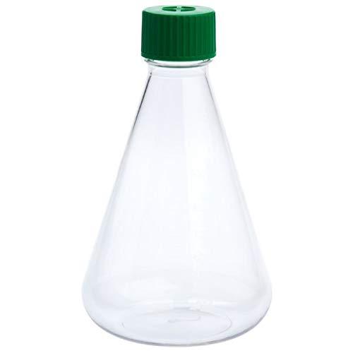 - 1000mL Erlenmeyer Flask, Vent Cap, Plain Bottom, PETG, Sterile