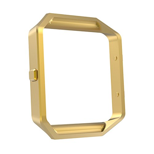 MoKo Fitbit Blaze Band Frame , Stainless Steel Replacement Metal Frame Housing For Fitbit Blaze Smart Watch - GOLD