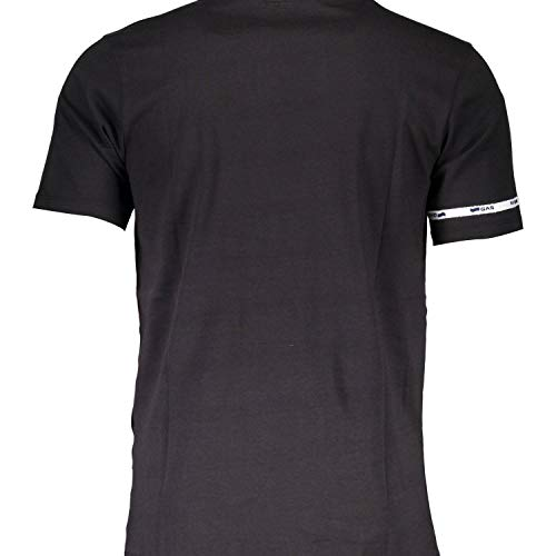 T shirt jet Nero 2758 Viola Gas Black 6 Uomo Uv5qd