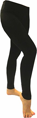 Hard Tail Flat Waist Full Length Leggings - Black (L, Black)