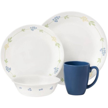 Corelle Livingware Secret Garden 32-Piece Dinnerware Value Bundle (Corelle Bone compare prices)
