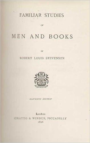 Familiar Studies Of Men And Books Amazoncouk Robert Louis Stevenson