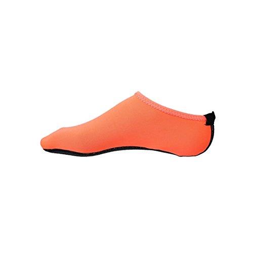 Norbi Barefoot Waterhuid Schoenen Aqua Sokken Voor Strand Zwembad Zand Zwemmen Surf Yoga Oranje