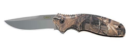 - CRKT Shenanigan Camo Realtree X-Tra Folding Pocket Knife, Plain Edge K480CXP