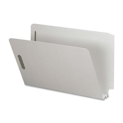 2 Fastener Gray Green - SP17266 Nature Saver End Tab Pressboard Fastener Folder - Legal - 8.50