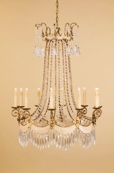 Tiara Crystal Chandelier - Currey and Company 9439 Tiara - Six Light Chandelier, Silver Granello Finish with Clear Crystal