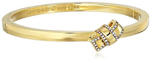 Bangle Boutique Designer Bracelets - Kate Spade New York Pave Knot Hinged Gold Bangle Bracelet