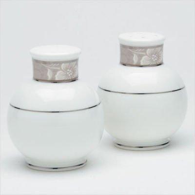 - Noritake Rosella Taupe Salt & Pepper