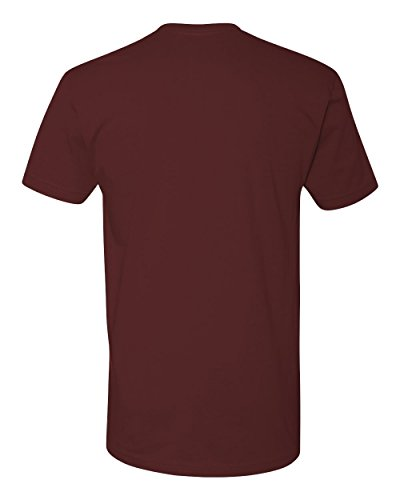 Next Level Mens Premium Fitted Short-Sleeve Crew T-Shirt - Large - Maroon