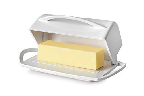 Better Dish Flip Top Butter Dish without Spreader (White)