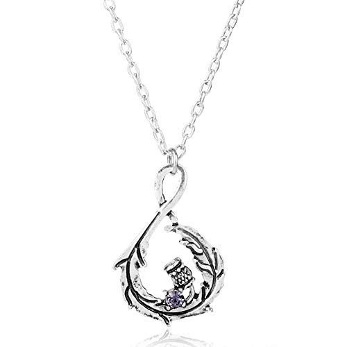 Nattaphol Outlander Jewelry Scotland Thistle Celtic Scottish Flower Pendants Necklace for Woman Girl Necklace collares Gift-30