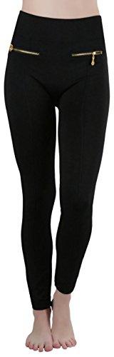 Zipper Leggings Pants - 7