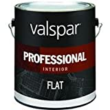 Valspar Paint 11600 Interior High Hide Latex Paint White Flat, 1 gallon