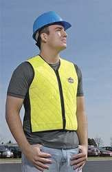 Cooling Vest, 4 hr. Cooling Time, High Visibility Lime, 2XL