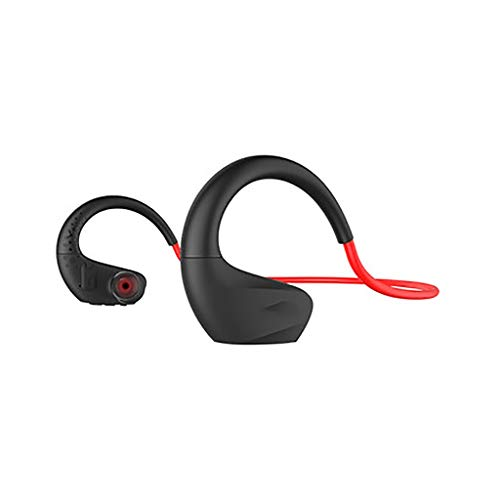 Price comparison product image North cool Sports Bluetooth Headset Wireless Headset Running Can't Lose Level 7 Waterproof Swimming Into Earplug Type Answer Phone (Color : Red)
