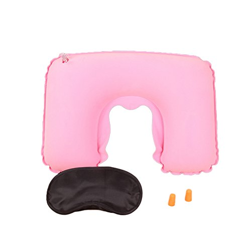 Song 3 In 1 Set U-Shaped Inflatable Neck Pillow Eye Mask Ear
