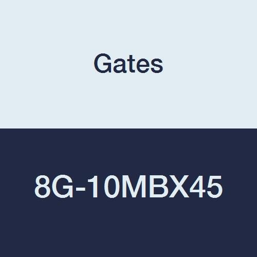 1//2 ID 4.28 1//2 ID 45/° Bent Tube Gates 8G-10MBX45 MegaCrimp Couplings 4.28 Male O-Ring Boss Swivel Zinc Plated Carbon Steel