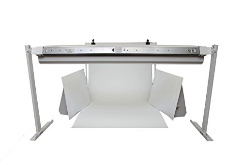 MyStudio VS36 Versa Sweep Large Table Top Photo Studio Lightbox Kit with 5000K photography lighting for Product Photography (White)  36' wide x 72' long