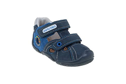 elefanten First Shoes - Babies VIVO - Soft, High-Quality Leather, with an Anatomic Pad, 3 Part Flaxibale Sole Allows Free Movment - Size 3.5 AU - Blue, Ocean Blue