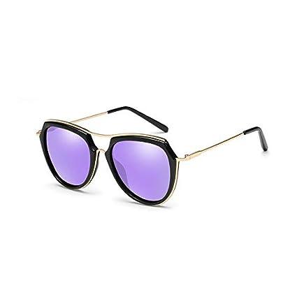 Sunglasses- Gafas de Sol Marea Femenina Cara Redonda Rosa polarizadas Gafas de Sol Red de
