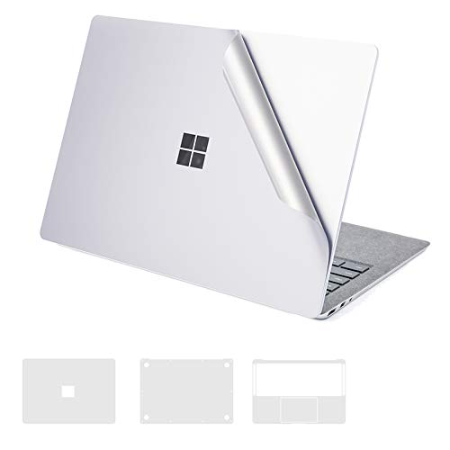 XSKN - Surface Book Full Body Protector, 4 in 1 Anti-Scratch Ultra Slim Removable Bubble Free Decal Laptop Sticker Cover Skin for Microsoft Surface Book 1 (2015 Released), Silver ()