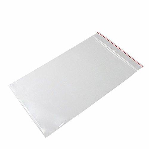 (Minigrip Red Line MGRL2P0609 Polyethylene (LDPE/LLDPE Blend) Clear Reclosable Bag, 9