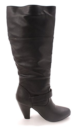 Justfab Gewoon Fab Dames Eroine Gesloten Teen Mid-kalf Mode Laarzen Zwart