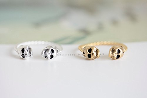 Gold Skull Ring,unique Ring,adjustable Ring,,12R-01180