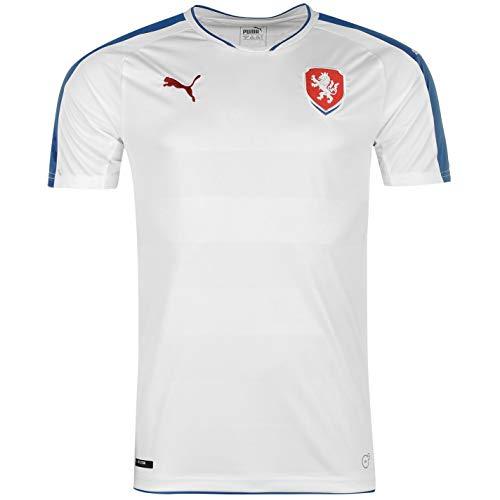 Official Puma Czech Republic Away Jersey 2016 Mens White/Blue Football Soccer Shirt Top Small