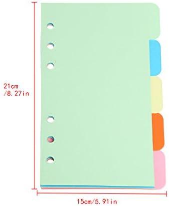 Lamdoo Blank Paper Pad 5 Stücke Minen 6 Loch Blank Bunte Papier für A5 A6 Loose Leaf Binder Notebook 2