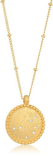 Satya Jewelry Celestial Goddess White Topaz Gold Pleiades Pendant Necklace, 18-Inch ()