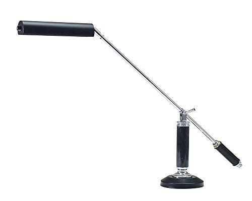 House of Troy PLED192-627 Counter Balance LED Piano/Desk Lamp, Chrome/Black Marble