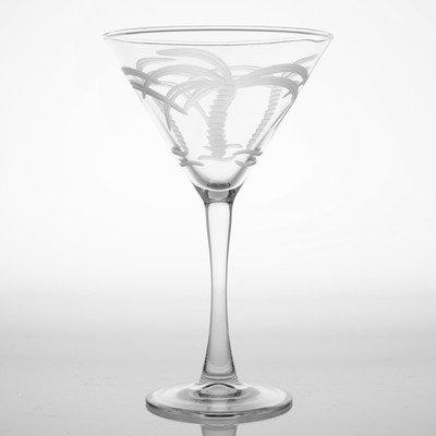 Palm Glasses - Palm Tree 10 Oz Martini Glass (Set of 4)
