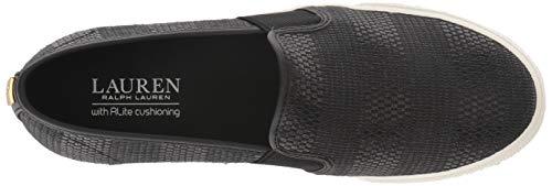 Lauren Ralph Lauren Women's Jinny Sneaker, Black, 9.5 B US